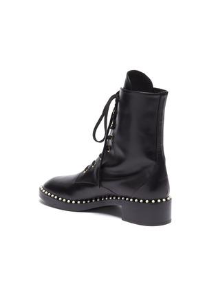 - STUART WEITZMAN - 'Sondra' faux pearl leather combat boots