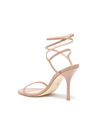 - STUART WEITZMAN - 'Merinda' crisscross ankle strap patent leather sandals