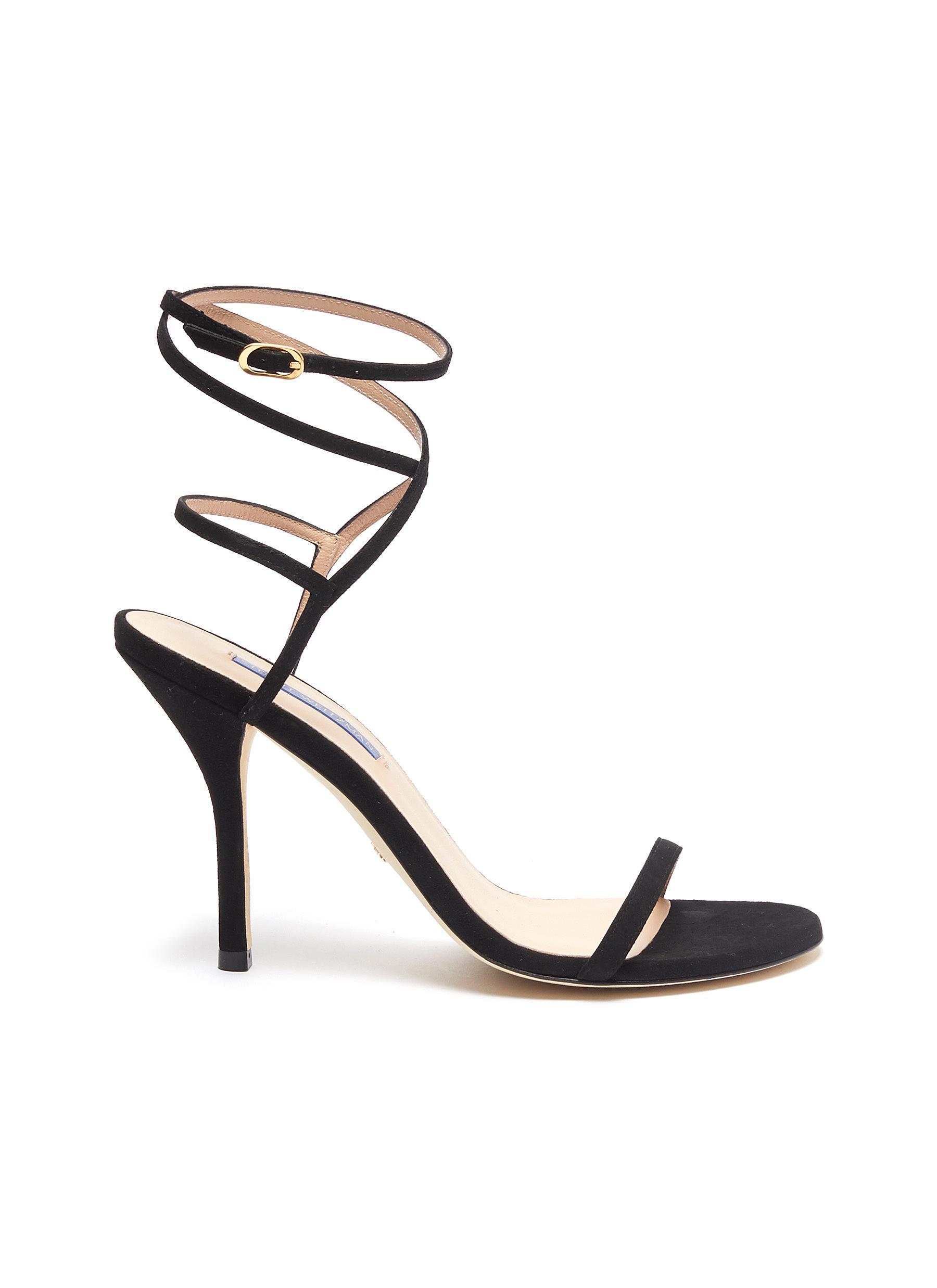 Merinda crisscross ankle strap suede sandals by Stuart Weitzman