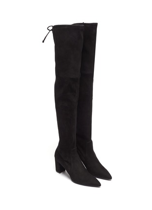 Stuart Weitzman Lesley Stretch Suede Thigh High Boots