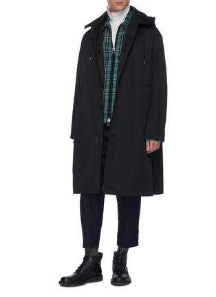 Figure View - Click To Enlarge - OAMC - Plaid check zip shirt