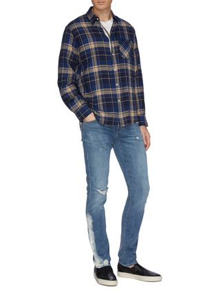 Figure View - Click To Enlarge - J BRAND - Ripped knee slim fit jeans