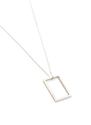 Detail View - Click To Enlarge - LE GRAMME - 'Le 2.6 Grammes' geometric silver pendant necklace
