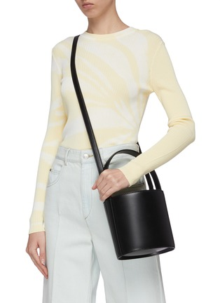 Front View - Click To Enlarge - STAUD - 'Bissett' leather bucket bag