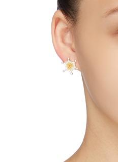 HEFANG 'Circus' cubic zirconia stud earrings