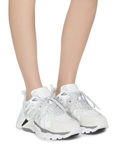 ASH 'FLASH' chunky outsole leather panel mesh sneakers