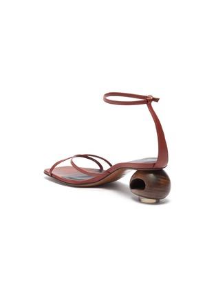 - NEOUS - 'Phippium' cutout sculptural heel leather sandals