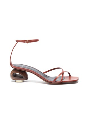 Main View - Click To Enlarge - NEOUS - 'Phippium' cutout sculptural heel leather sandals