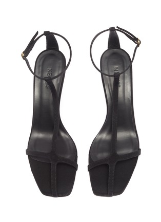 Detail View - Click To Enlarge - NEOUS - 'Jumel' ankle strap grosgrain T-bar sandals
