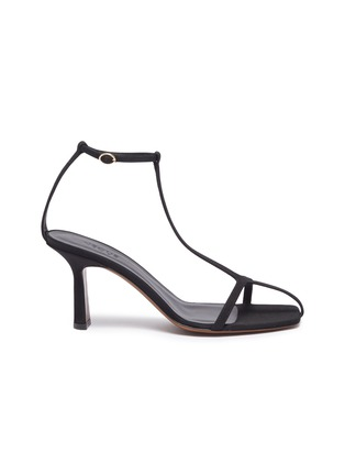 Main View - Click To Enlarge - NEOUS - 'Jumel' ankle strap grosgrain T-bar sandals