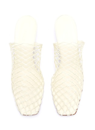 Detail View - Click To Enlarge - NEOUS - 'Bophy' fishnet mules