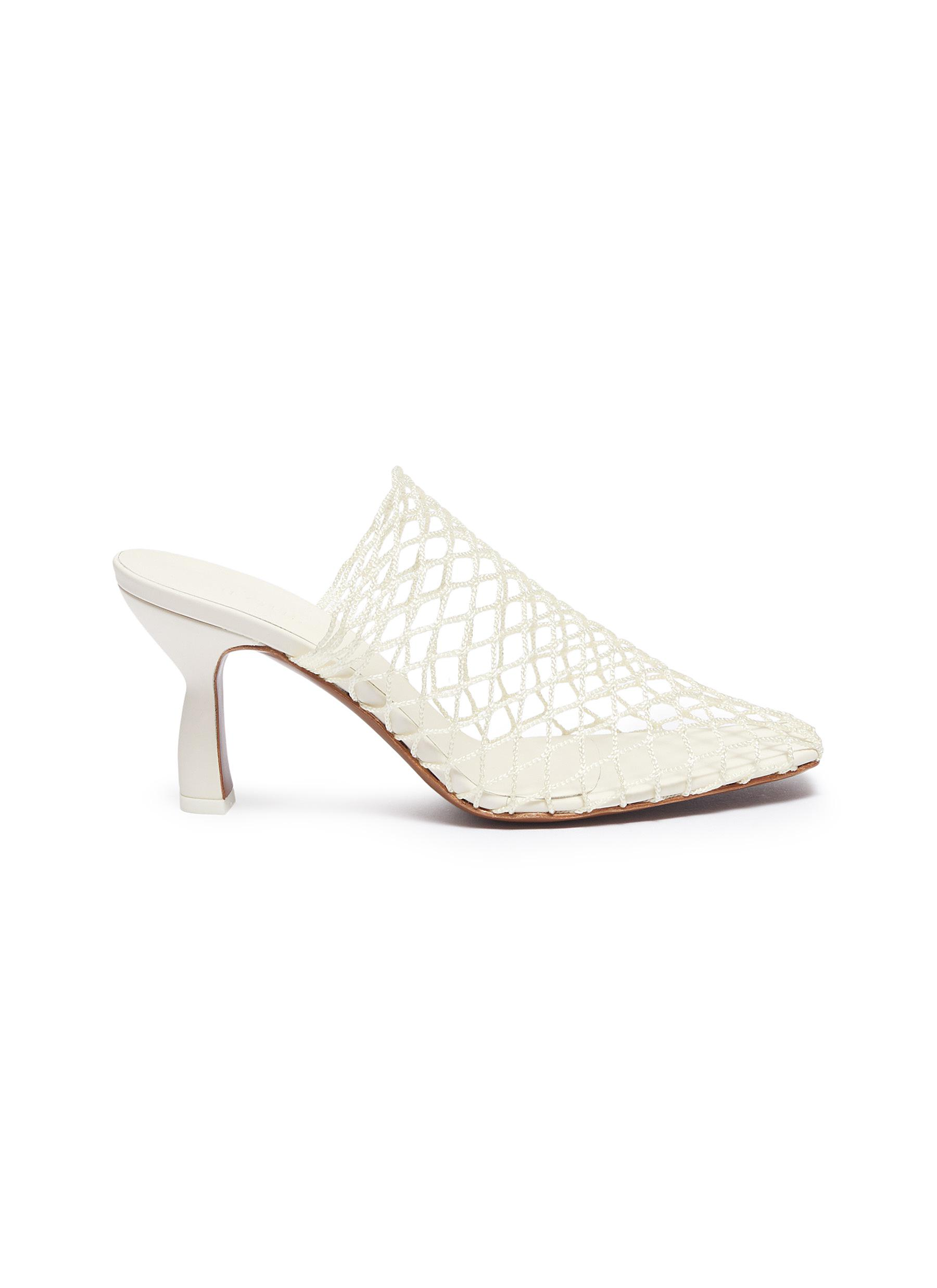 Bophy fishnet mules by Neous
