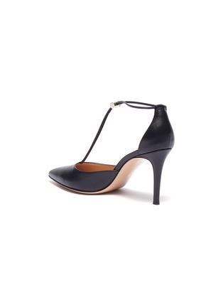 - GIANVITO ROSSI - Toggle strap leather d'Orsay pumps