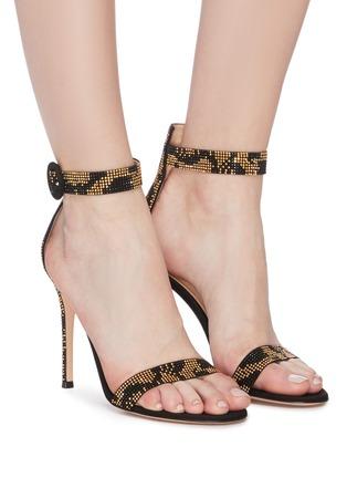 Figure View - Click To Enlarge - GIANVITO ROSSI - 'Portofino 105' strass sandals
