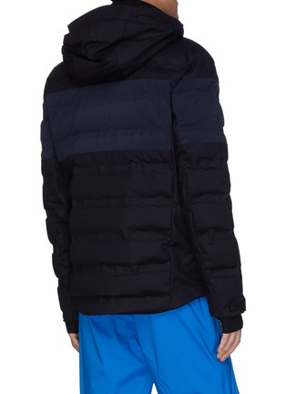 Back View - Click To Enlarge - AZTECH MOUNTAIN - 'Multi Nuke Suit' panel hooded waterproof wool padded puffer jacket