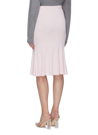 Back View - Click To Enlarge - CRUSH COLLECTION - Rib knit midi flared skirt