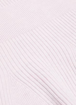 - CRUSH COLLECTION - Rib knit peplum top