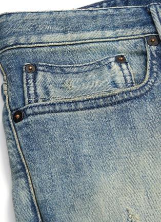 - DENHAM - 'Razor' rip-and-repair slim fit jeans