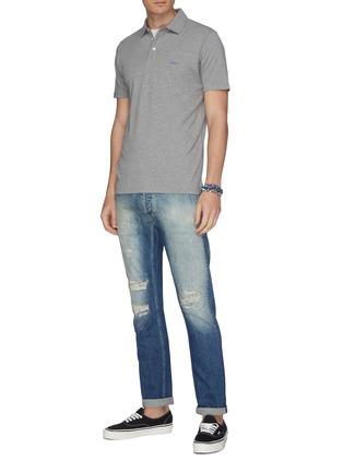 Figure View - Click To Enlarge - DENHAM - 'Razor' rip-and-repair slim fit jeans