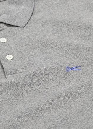 - DENHAM - Logo embroidered polo shirt