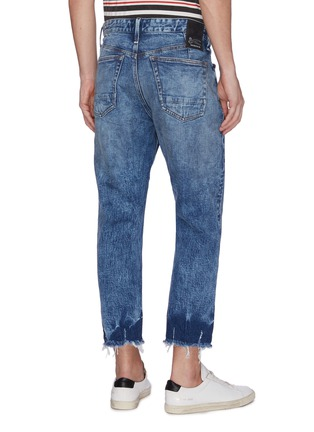 Back View - Click To Enlarge - DENHAM - Let-out cuff ripped cropped jeans