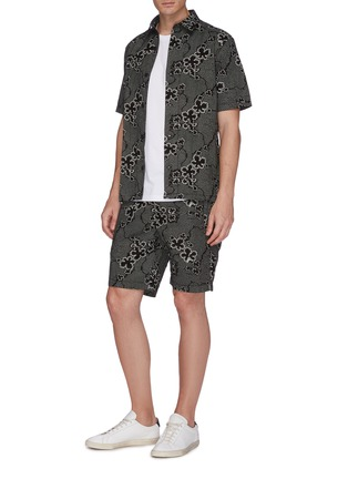 Figure View - Click To Enlarge - DENHAM - 'Carlton' graphic print shorts