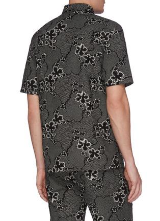 Back View - Click To Enlarge - DENHAM - 'Sherman' graphic print short sleeve shirt
