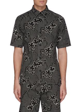 Main View - Click To Enlarge - DENHAM - 'Sherman' graphic print short sleeve shirt