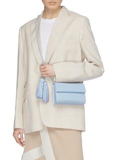 RODO Tassel shoulder strap flap leather clutch
