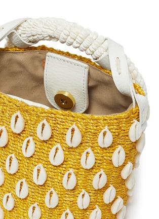 Detail View - Click To Enlarge - ARANÁZ - 'Kaia' seashell mini straw bucket bag
