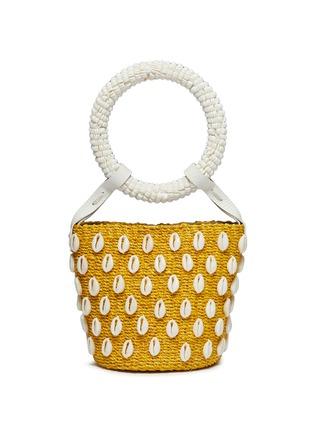 Main View - Click To Enlarge - ARANÁZ - 'Kaia' seashell mini straw bucket bag