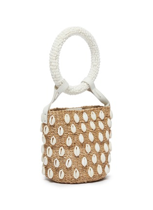 Detail View - Click To Enlarge - ARANÁZ - 'Kaia' seashell mini straw bucket bag