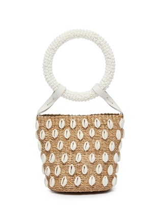 Main View - Click To Enlarge - ARANÁZ - 'Kaia' seashell mini straw bucket bag