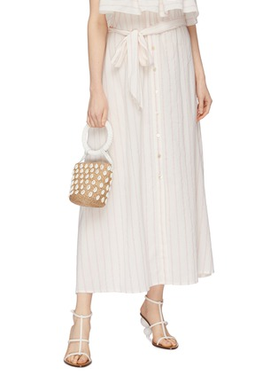 Figure View - Click To Enlarge - ARANÁZ - 'Kaia' seashell mini straw bucket bag