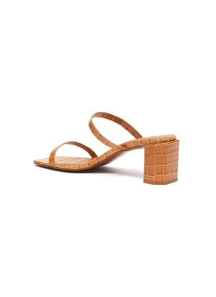 - BY FAR - 'Tanya' croc embossed leather sandals