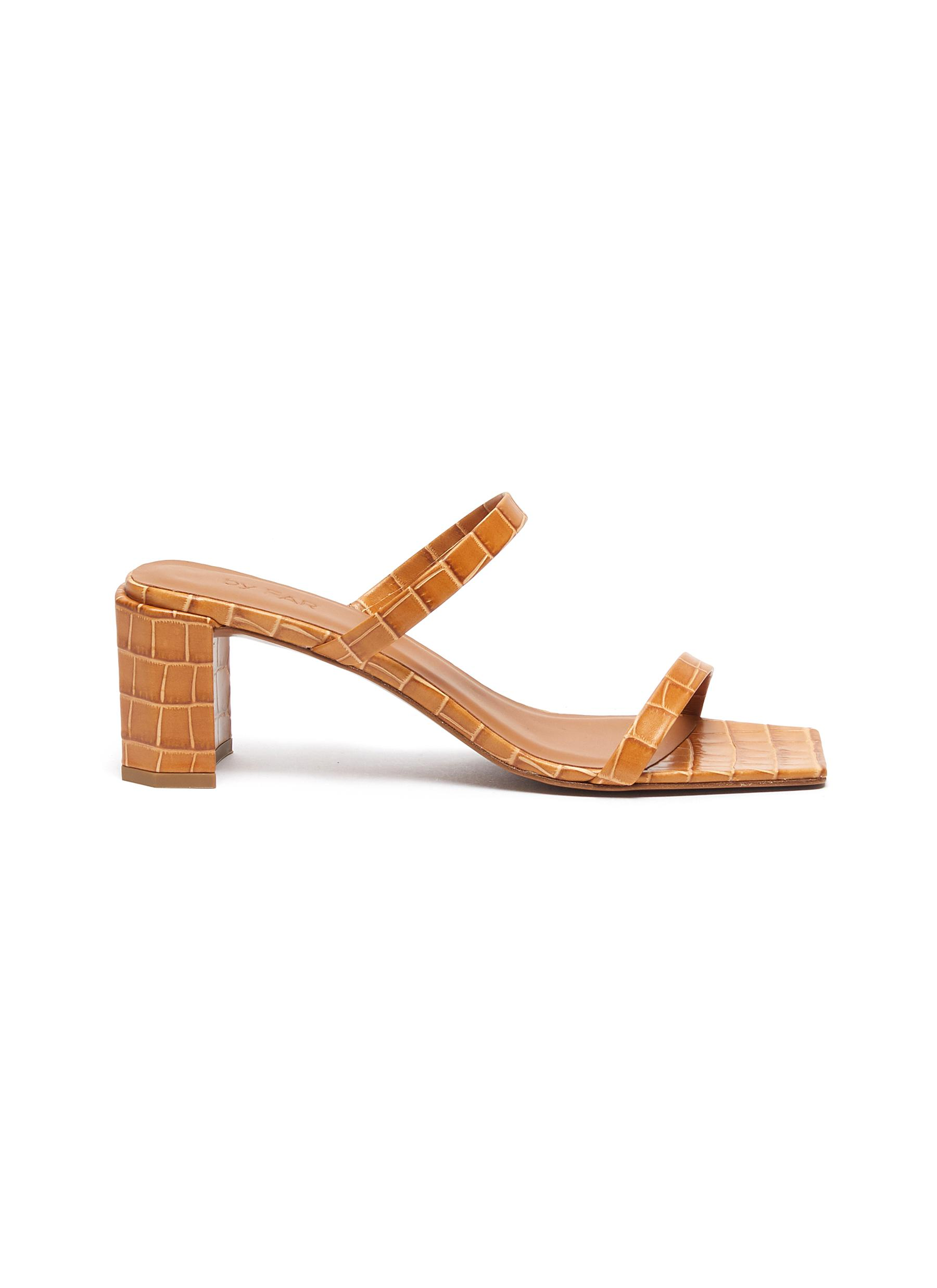 Tanya croc embossed leather sandals by By Far