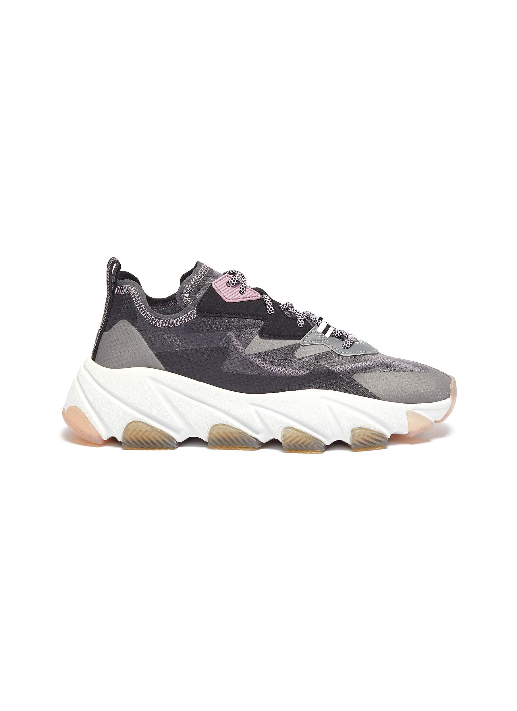 shop Ash 'Eclipse' chunky outsole suede panel ripstop sneakers online