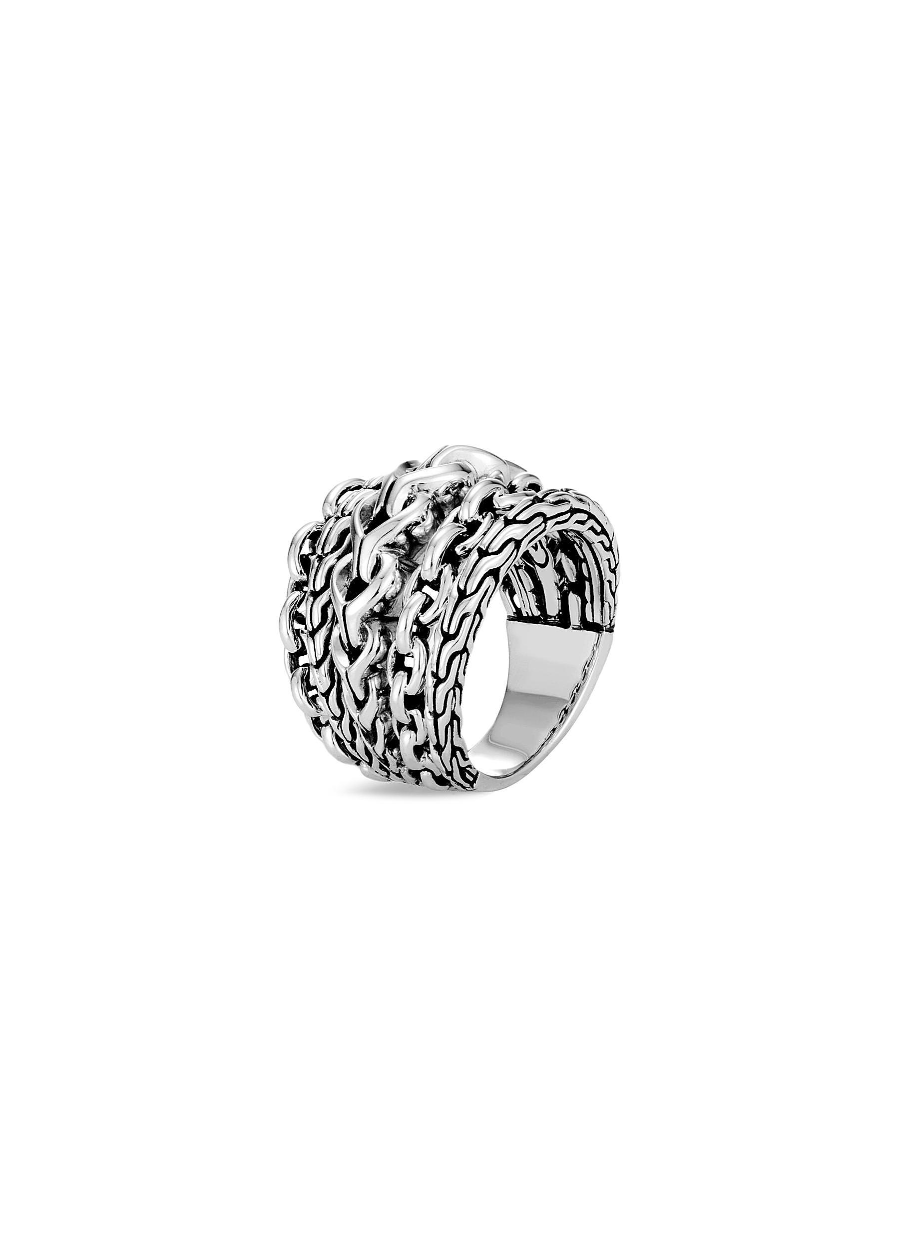 John Hardy Women's Classic Chain Sterling Silver Ring