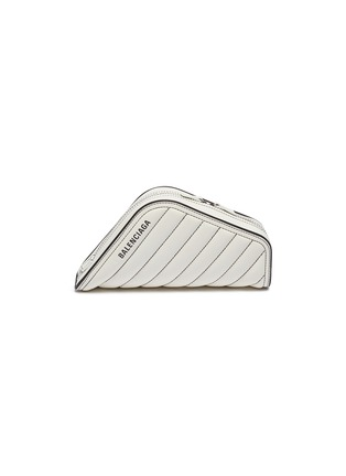 Main View - Click To Enlarge - BALENCIAGA - 'Car S' logo print asymmetric quilted leather clutch