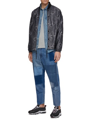 Figure View - Click To Enlarge - FDMTL - Boro patchwork jeans