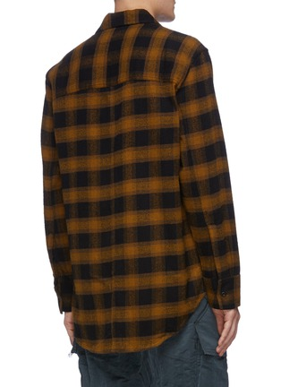 Back View - Click To Enlarge - SONG FOR THE MUTE - Check plaid flannel shirt