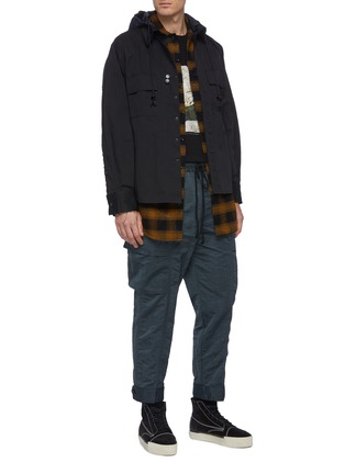 Figure View - Click To Enlarge - SONG FOR THE MUTE - Check plaid flannel shirt