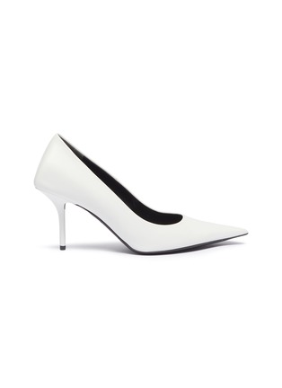 Main View - Click To Enlarge - BALENCIAGA - 'Square Knife' leather pumps