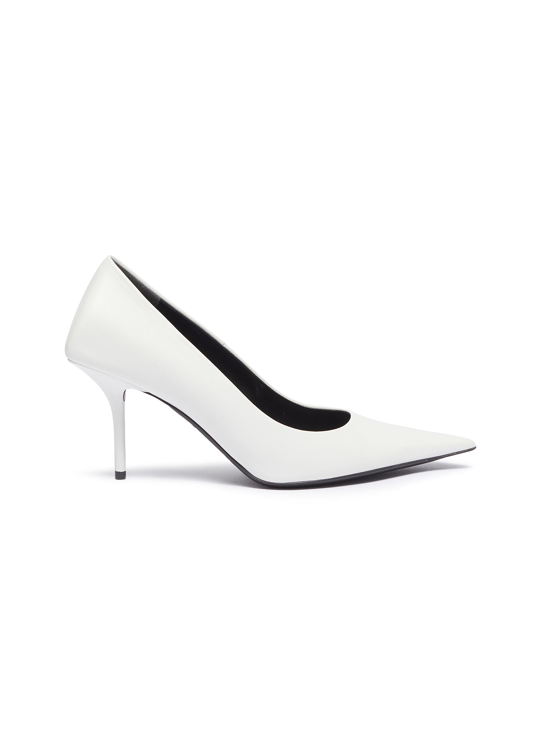 Square Knife leather pumps by Balenciaga