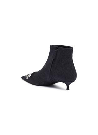 - BALENCIAGA - 'Knife' logo plaque denim ankle boots