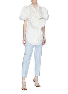 Silvia Tcherassi 'Primula' bow front puff sleeve tunic blouse