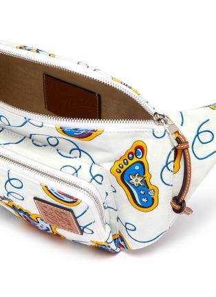 Detail View - Click To Enlarge - LOEWE - x Paula's Ibiza graphic print canvas bum bag