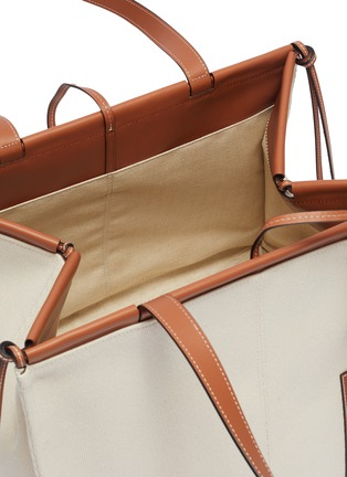 Detail View - Click To Enlarge - LOEWE - 'Cushion' large canvas tote bag