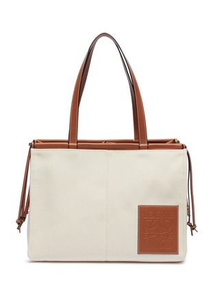 Main View - Click To Enlarge - LOEWE - 'Cushion' large canvas tote bag