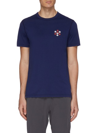 Main View - Click To Enlarge - REIGNING CHAMP - Graphic number print Pima cotton T-shirt